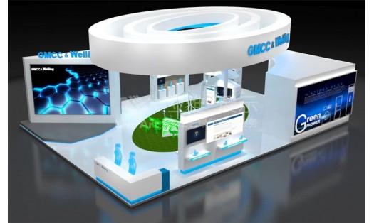 GMCC电子科技展台设计搭建案例